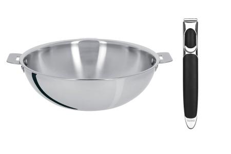 Cristel stainless steel wok