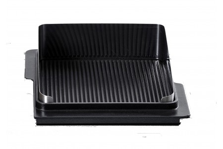 Plaque grill fonte barbecue induction cuisson